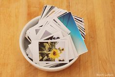 love the idea of keeping a bowl of #instax and #iPhone pics