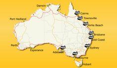 campervan hire location in Australia