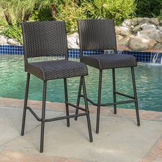 Shop for Neal Outdoor Wicker Barstools (Set of by Christopher Knight Home. Get free delivery On EVERYTHING* Overstock - Your Online Garden & Patio Shop! Get in rewards with Club O! Wicker Counter Stools, Outdoor Bar Stools, Wicker Rocking Chair, Online Shopping, Wicker Dining Chairs, Rattan, Bar Chairs, Outdoor Furniture Sets, Outdoor Decor