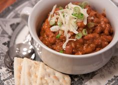 Big Red Chili with Brisket and Pinto Beans - Sis. Boom. Blog!