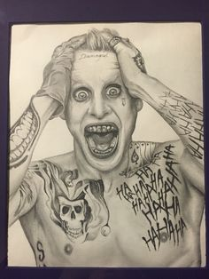 suicide squad joker drawing