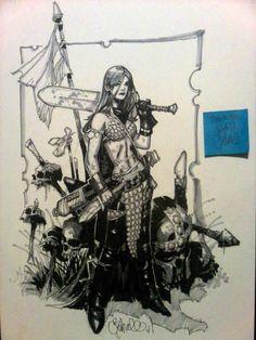 Red Sonja by Chris Bachalo Comic Art
