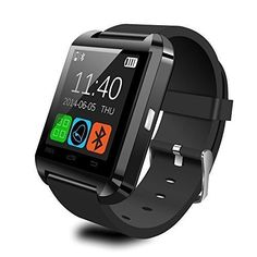 LittleStream Digital clock AngelRiver wireless Bluetooth smart watch U8 T Sport pedometer Reminder handsfree SmartWatch U80 wrist band for Android phone not smartphone IOS Black -- You can get more details by clicking on the image.(This is an Amazon affiliate link and I receive a commission for the sales)