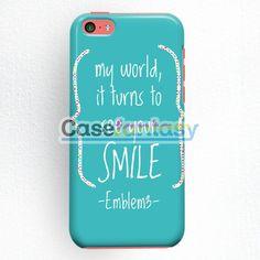 Emblem3 Lyric Cover iPhone 5C Case | casefantasy