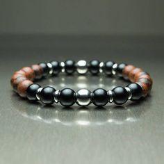 Sublime BRACELET Homme/Femme Perles pierre naturelle Mahogany #men'sbracelets