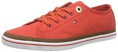 Tommy Hilfiger K1285ESHA 6D, Damen Sneakers, Rot (RED CLAY 613), 36 EU - http://on-line-kaufen.de/tommy-hilfiger/36-eu-tommy-hilfiger-k1285esha-6d-damen-sneakers-4
