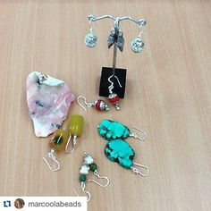 #Repost @marcoolabeads  Earrings #marcoolabeads #hilltribesilver #handmade #jewellry #beads #turquoise #aget #chells #bones #pink #coral