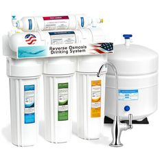 6eaa9f96634 5-Stage Undersink Reverse Osmosis Water Filtration System 50 GPD Filter  Membrane