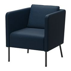 IKEA - EKERÖ, Chair, Skiftebo dark blue, , The reversible back cushion gives soft support for your back and two different sides to wear.The back cushion can be moved around to fit your sitting style.10-year limited warrranty. Read about the terms in the limited warranty brochure.
