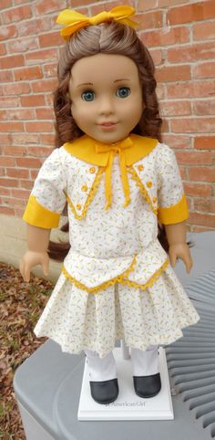 1914 Style Pleated Frock Fits Samantha and Rebecca. $24.95, via Etsy.