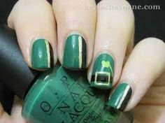 Nail design for St. Patrick's Day