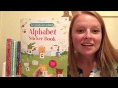 Usborne Getting Ready for School Alphabet Sticker Book - YouTube @UsborneBookBattalion on Facebook, YouTube, and Instragram! www.UsborneBookBattalion.com