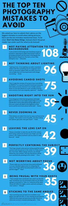 Fracture's Awesome Infographic of Photography Mistakes to Avoid! (Plus 58 more tips on the site!) Fracture's Awesome Infographic of Photography Mistakes to Avoid! (Plus 58 more tips on the site!