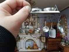 2 Casa de Muñecas en Miniatura Lleno Planta Ollas con una paleta