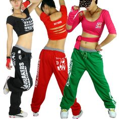 Hip hop pants Fashion Loose casual Female trousers Wide leg pants The sport pants Free shipping-inPants & Capris from Apparel & Accessories on Aliexpress.com Hip Hop Fashion, Fashion Pants, New Fashion, Fashion Women, Hip Hop Dance Outfits, Ropa Hip Hop, Jazz Costumes, Sport Chic, Sport Pants