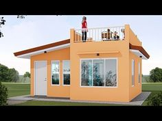 ARKIX3D - YouTube Loft House Design, Modern Small House Design, 2 Storey House Design, Small House Interior Design, Bungalow House Design, Modern House Floor Plans, Sims House Plans, Bungalow House Plans, Tiny House Cabin