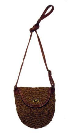 Handmade Boho Crochet Hemp Corn Husk Straw Street Crossbody/Shoulder Bag BS23D