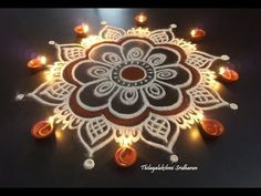 Hi friends. here is a simple and easy kolam for Karthigai Deepam. decorate your house with this simple kolam on the festival of lights, Karthigai Deepam . Indian Rangoli Designs, Rangoli Designs Latest, Latest Rangoli, Rangoli Border Designs, Rangoli Designs With Dots, Rangoli Designs Images, Dulhan Mehndi Designs, Beautiful Rangoli Designs, Henna Mehndi