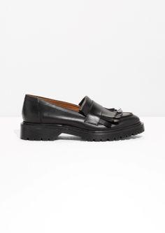 & Other Stories | Leather Fringe Loafer