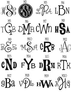 Monogram Tumbler lots of font by GameDayGirlsandGifts Monogram Fonts, Monogram Letters, Free Monogram, Cricut Fonts, Silhouette Cameo Projects, Cool Fonts, Fun Fonts, Vinyl Projects, Just In Case