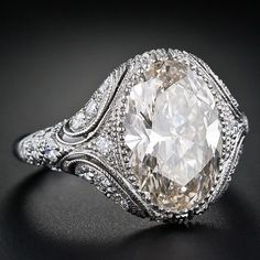 ༺ღ༻Garden of Dreams༺ღ༻ No details for this stunningly detailed Diamond ring. Exquisite milgrained work around the centre Diamond. Filigree work around the shank.