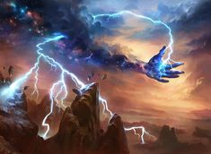 Theros MtG Art - Art of Magic: the Gathering Fantasy Kunst, Dark Fantasy Art, Fantasy Artwork, Fantasy World, Guerrero Dragon, Mtg Art, Fantasy Landscape, Fantasy Creatures, Fantasy Characters