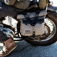 iron and resin pannier bag - Google Search
