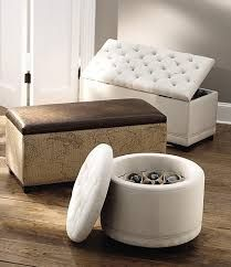 Captivating Home Decorators Collection Chambers Solid Tufted Canvas Round Shoe Ottoman  In   The Home Depot