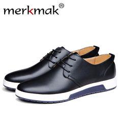 9980b67901d Merkmak Лидер продаж мужские туфли на плоской подошве Обувь шнурованная для  женщин Пояса из натуральной кожи на весну и зиму Мех животных WAM дышащий  ...