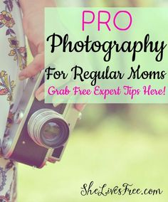 Learn to take outdoor photos like an expert!   Free pro photography tips for every woman, from a professional photographer and Mom!