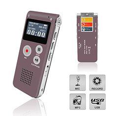 Digital Voice Recorder, Portable Recorder, Multifunctiona...