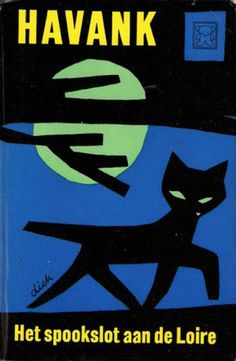 Book cover design by Dick Bruna, 1958. 'Spookslot aan de Loire' (The ghost castle near the river Loire) by Havank.