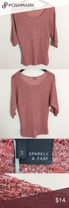 """UO Sparkle & Fade Dolman 3/4 Sleeve Top Sz S A great lightweight knit perfect for spring days 💕  Stats (laying flat): Length: 26.5"""" 