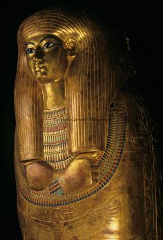 Gilded coffin of Tjuya, KV 46; Valley of the Kings; reign of Amenhotep III,Tutankhamun a