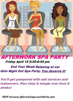 """After work spa party....Kathy's Day Spa Party""""! Skincare, facials masks and make-up techniques!! Booking within the Southern NJ area or start your own Spa Party business, ask me how? www.beautipage.com/KathysDaySpa  www.facebook.com/KathysDaySpa"""