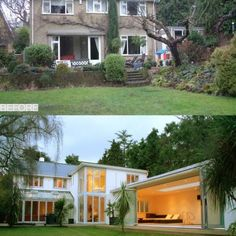 exterior transformation by Back to Front Exterior Design This really holds the factor now. – Home Renovation Renovation Facade, Home Renovation, Home Remodeling, Home Exterior Makeover, Exterior Remodel, House Makeovers, House Extensions, House Front, Cabana