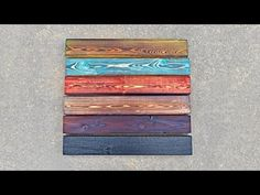 This week I'm back with a stained shou sugi ban tutorial video. I'll show you the Japanese method of burning wood to preserve it, and protect it from fire & rot. Torch Wood, Diy Wood Stain, Charred Wood, Wood Mosaic, Pallet Art, Wood Colors, Painting Techniques, Wood Burning, Wood Pallets