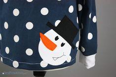 kostenlose Applikationsvorlage Schneemann free applique pattern snowman