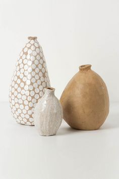 vases handmade in Haiti by Magalie Noel Dresse and Juliana Um of Fairwinds Trading, a company dedicated to economically empowering women in the developing world (bluesoup) Ceramic Clay, Ceramic Pottery, Pottery Vase, Painted Pottery, Earthenware, Stoneware, Keramik Design, Paper Vase, Diy Paper