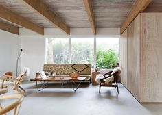 The North Vancouver House project consists of the design and construction of the restoration and renovation of the 150 sq. m house. Vancouver House, North Vancouver, Rustic Renovations, Interior Architecture, Interior Design, Piece A Vivre, House Made, House 2, Mid Century House