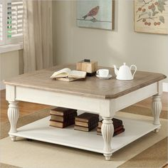 Two Tone Cocktail Table in Dover White
