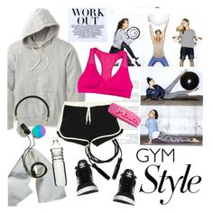 """Cool Gym Style"" by houseofhauteness ❤ liked on Polyvore featuring Reigning Champ, adidas Originals, Dot & Bo, Roxy, Splendid, Frends, Moschino, gym, polyvorecontest and gymstyle"