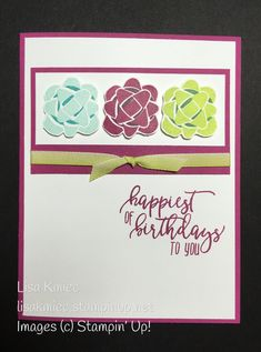 Picture Perfect Birthday from Stampin Up! 2018 Occasions Catalog