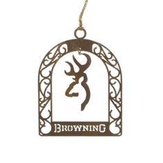 Browning Buckmark Symbol Arts Christmas Ornament