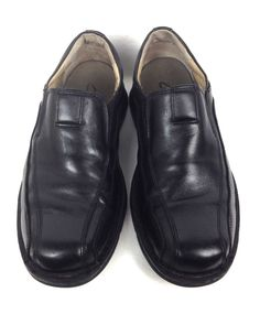 Clarks Shoes Men's Black Leather Loafers 9.5 #Clarks #LoafersSlipOns