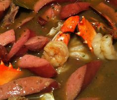 Seafood Gumbo New Orleans Style New Orleans Brunch, New Orleans Gumbo, Gumbo Recipes, Cajun Recipes, Cooking Recipes, Seafood Gumbo, Fish And Seafood, Awesome Food, Good Food