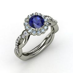 Blue Sapphire/Aquamarine/Diamond from the inside, out... Wayyyy too expensive, but so pretty :)