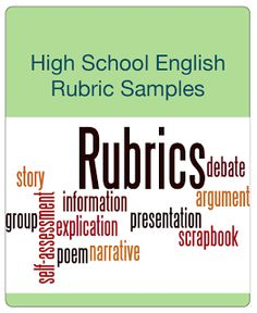 "FREE LANGUAGE ARTS LESSON - ""High School English Rubric Sampler"" - Go to The Best of Teacher Entrepreneurs for this and hundreds of free lessons. 11th - 12th Grade #FreeLesson #TeachersPayTeachers #TPT #LanguageArts http://www.thebestofteacherentrepreneurs.net/2013/08/free-language-arts-lesson-high-school.html"
