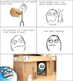 This is me whenever the HiLite gets a new shipment of Mac computers. I get the boxes.