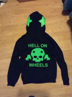 Roller Derby Hell on Wheels Zip Zipper or Pullover Hoodie
